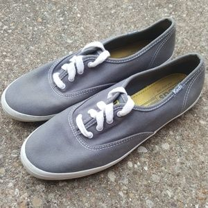 Keds Classic Canvas Grey Shoes 8